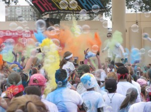 Clearwater Color Run after race