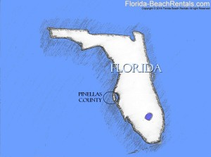 Florida map of Pinellas County
