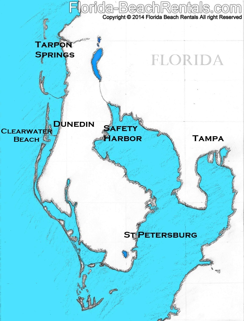 Top Towns To Visit On Your Clearwater Beach Vacation - Map of gulf coast florida