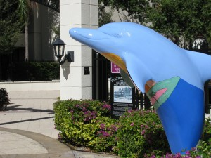 Dolphin sculpture Clearwater Florida