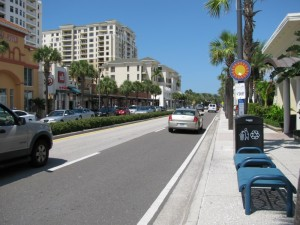 Clearwater Beach roads