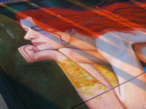 mermaid chalk art