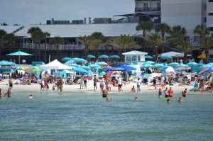 Superboat spectators Clearwater Beach