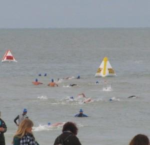 TriRock triathlon swimming