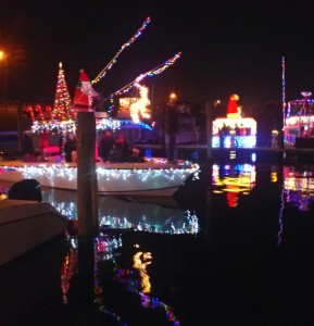 holiday lights on boat