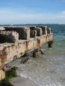 Island railroad ruins