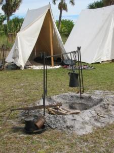 Reenactment camp at Egmont Key