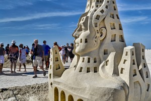 Divided Self sand sculpture