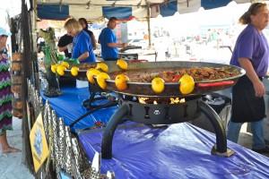 Food tent at Treasure Island