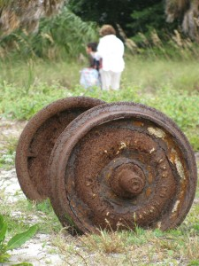 Train wheels Egmont Key