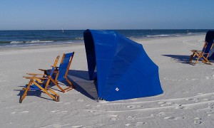 Beach cabana Clearwater Beach