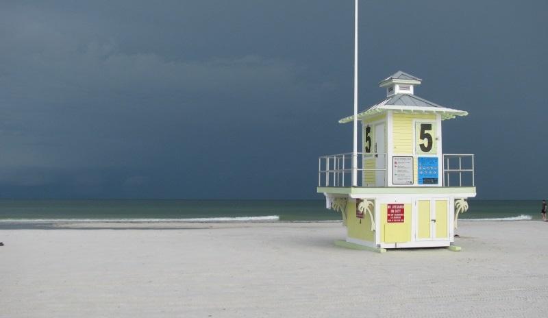 Clearwater Beach rain