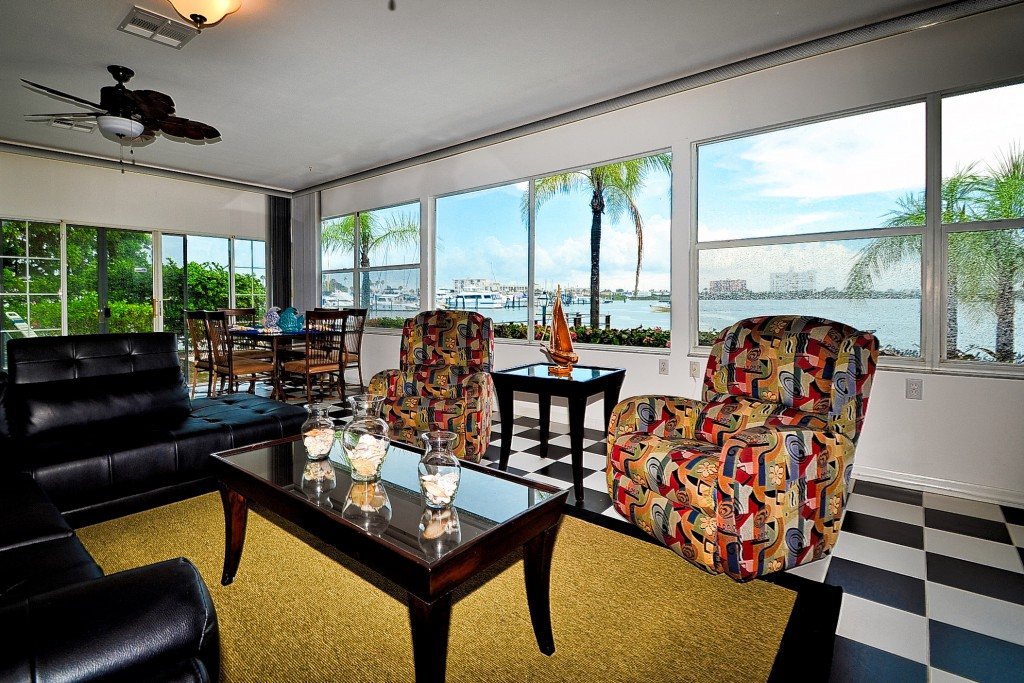 Florida Beach Rentals House on the Bay sunroom