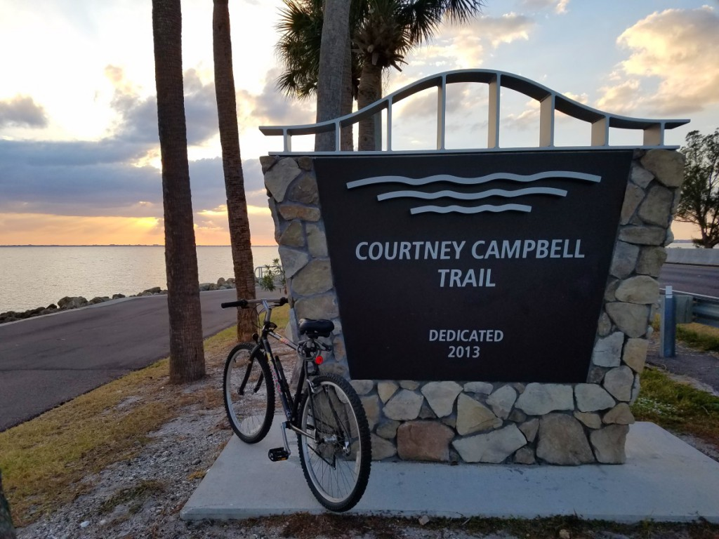 Courtney Campbell trail sign
