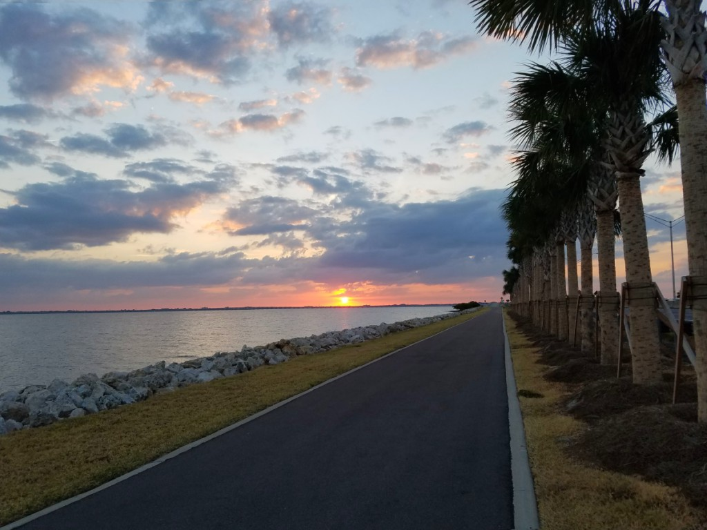 Sunset on Courtney Campbell Causeway Trail
