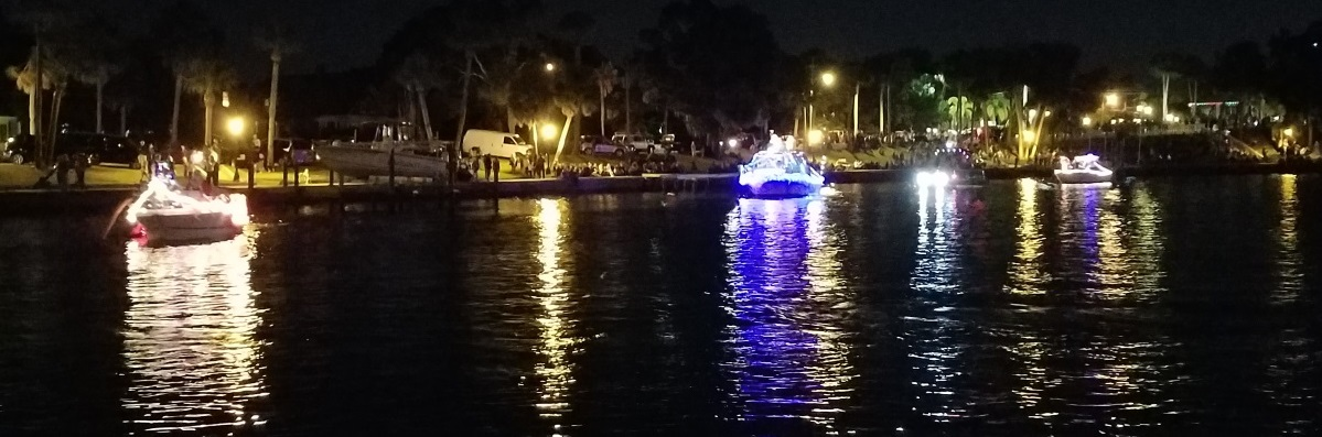 Lighting up the Holidays at Tarpon Springs Boat Parade