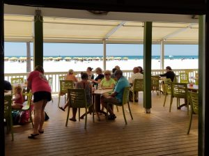Palm Pavilion outdoor dining patio Clearwater Beach