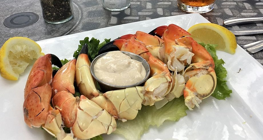 Stone crab served