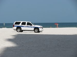 Clearwater police on beach