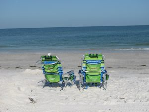 Two chairs on Clearwater Beach