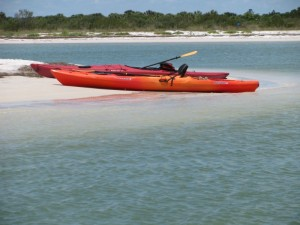 Kayaks on Honeymoon Island