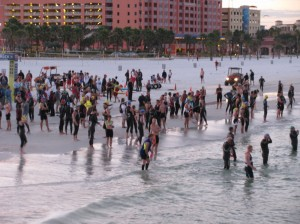 TriRock triathletes at Clearwater Beach