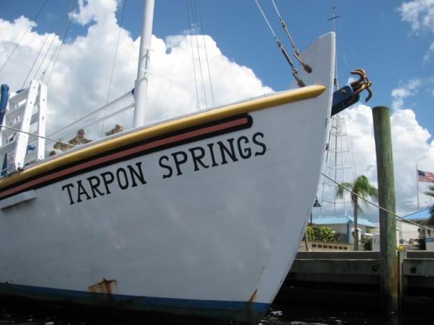 Tarpon Springs sponge dock boat
