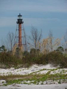 Anclote Key barrier island lighthouse