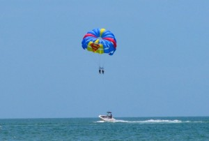 Clearwater Beach parasailing