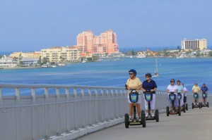 Segways on Clearwater Beach causeway