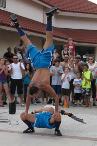 Clearwater Beach Pier 60 acrobats