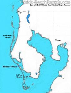 John's Pass map