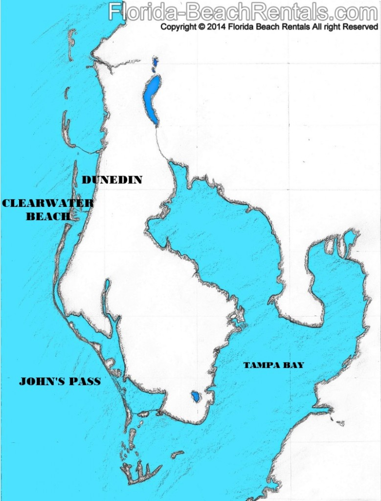 Map of Florida Gulf Coast