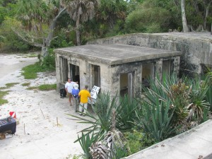 Fort ruins on Egmont Key