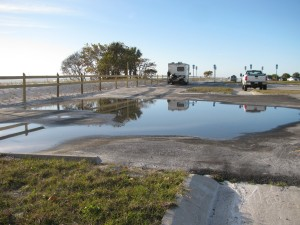 Honeymoon Island parking lot
