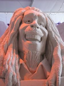 Bob Marley sculpture Sugar Sand Festival