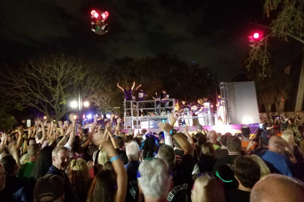Mardi Gras Lights Up Dunedin, Florida